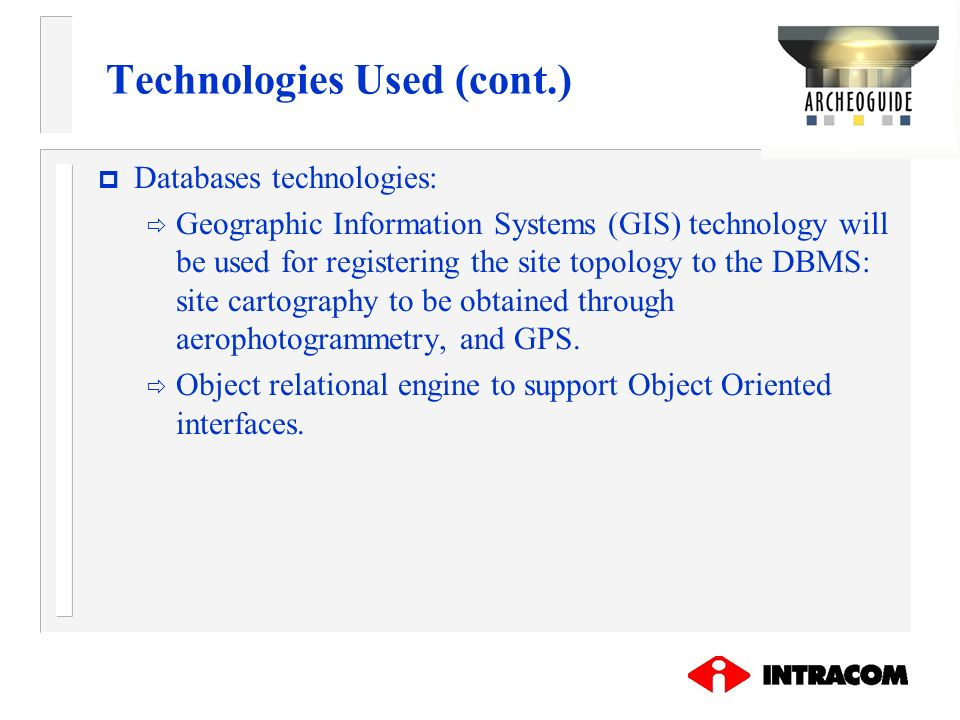 Technologies Used (cont.)