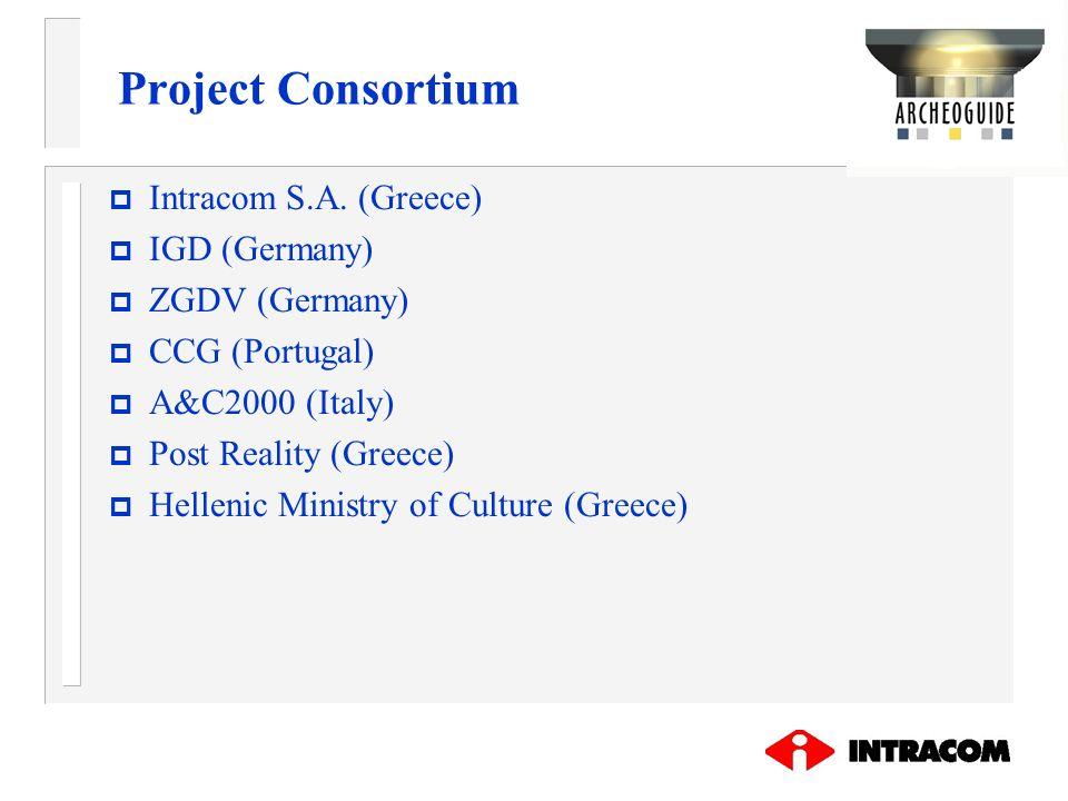 Project Consortium Intracom S.A. (Greece) IGD (Germany) ZGDV (Germany)