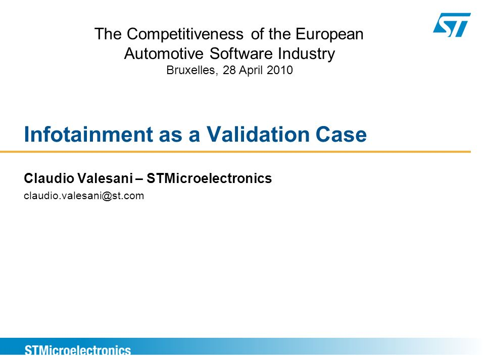 Infotainment as a Validation Case
