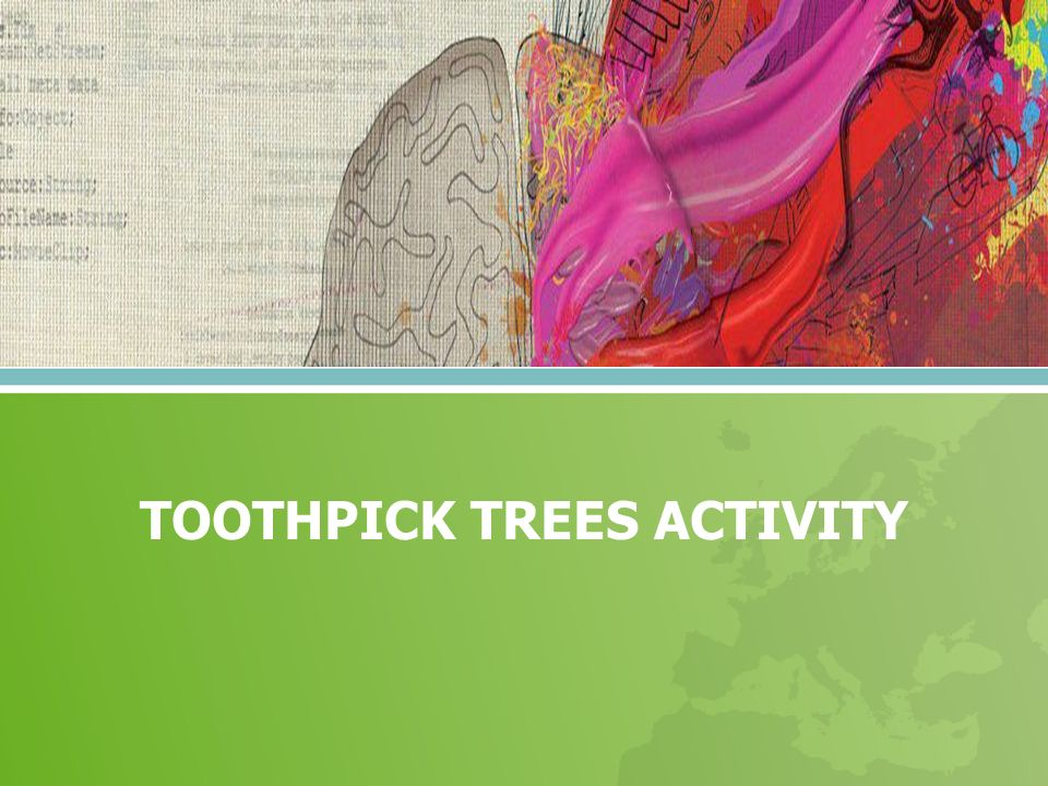 TOOTHPICK TREES ACTIVITY