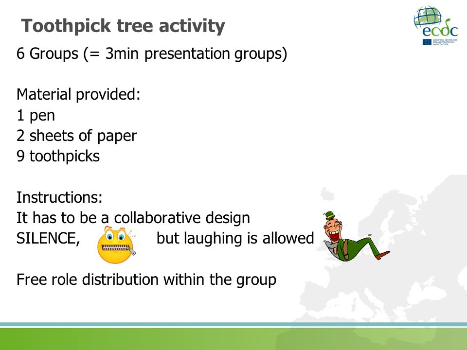 Toothpick tree activity