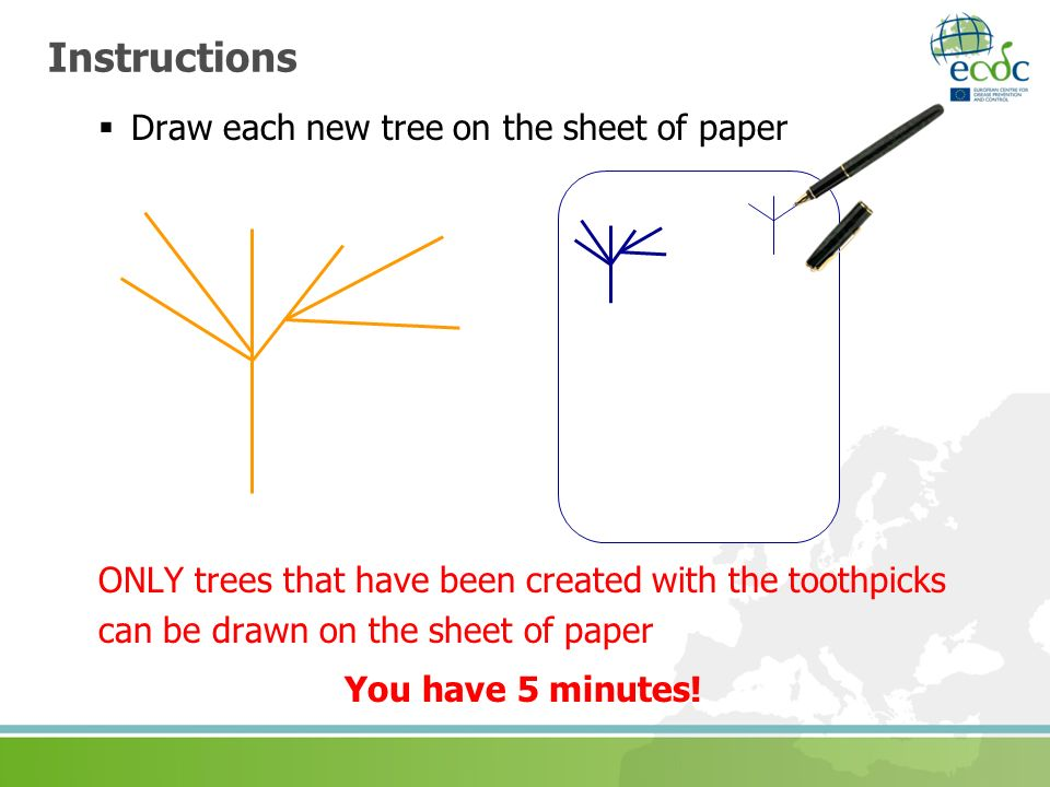 Instructions Draw each new tree on the sheet of paper