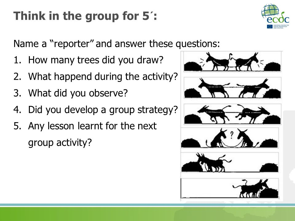 Think in the group for 5´: