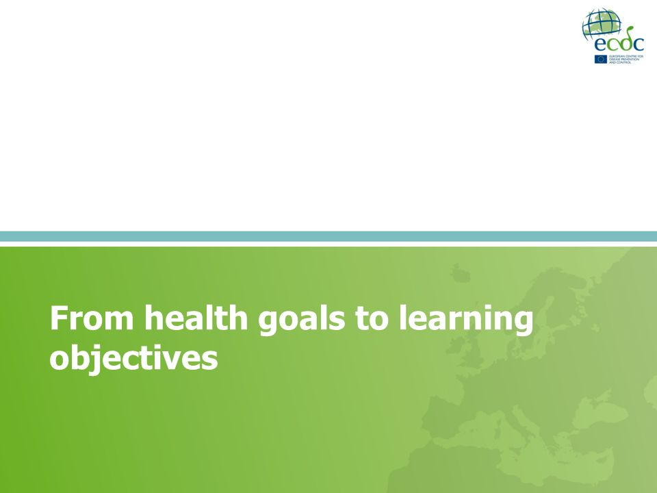 From health goals to learning objectives