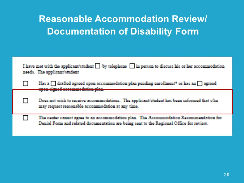 Reasonable Accommodation Process  Ppt Download