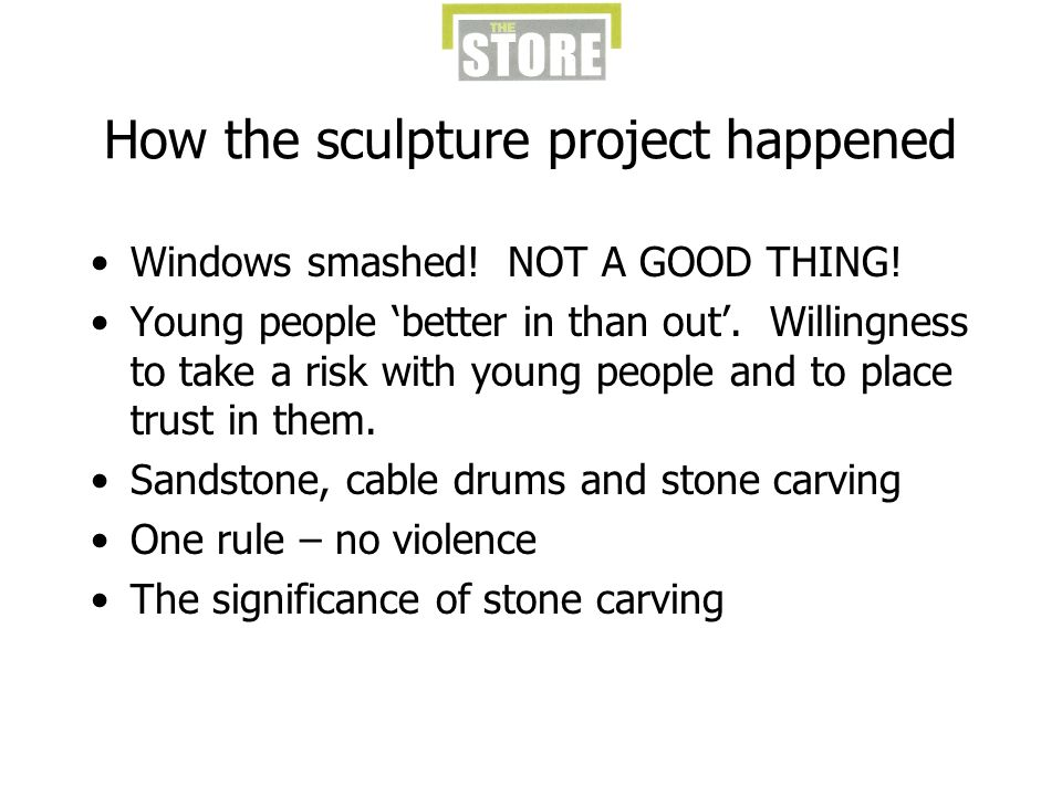 How the sculpture project happened