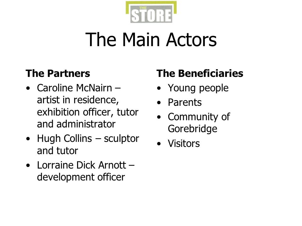 The Main Actors The Partners