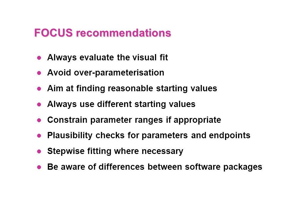 FOCUS recommendations