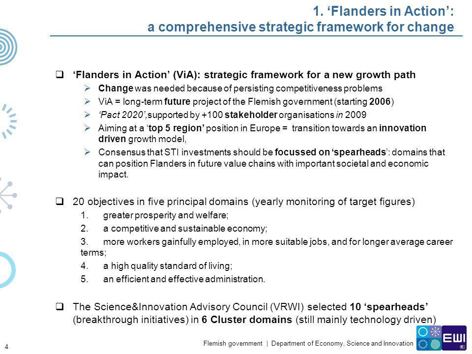 1. 'Flanders in Action': a comprehensive strategic framework for change