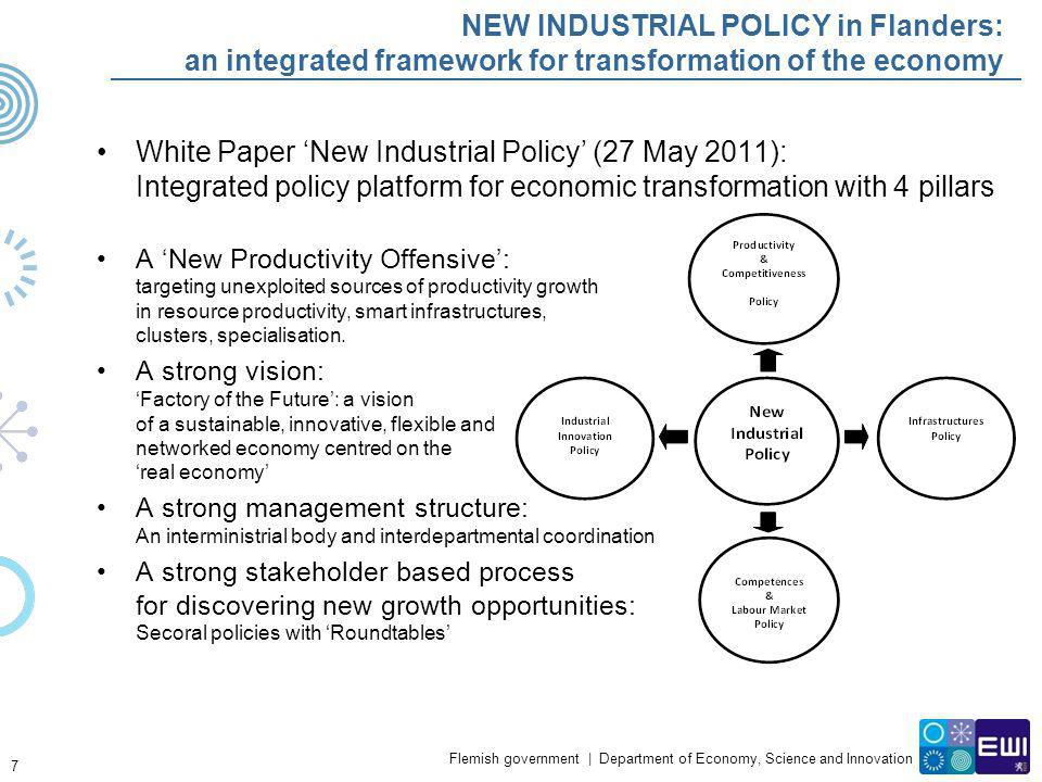 NEW INDUSTRIAL POLICY in Flanders: an integrated framework for transformation of the economy