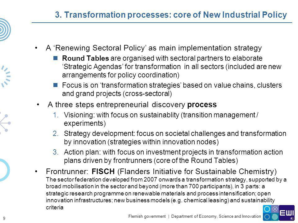 3. Transformation processes: core of New Industrial Policy