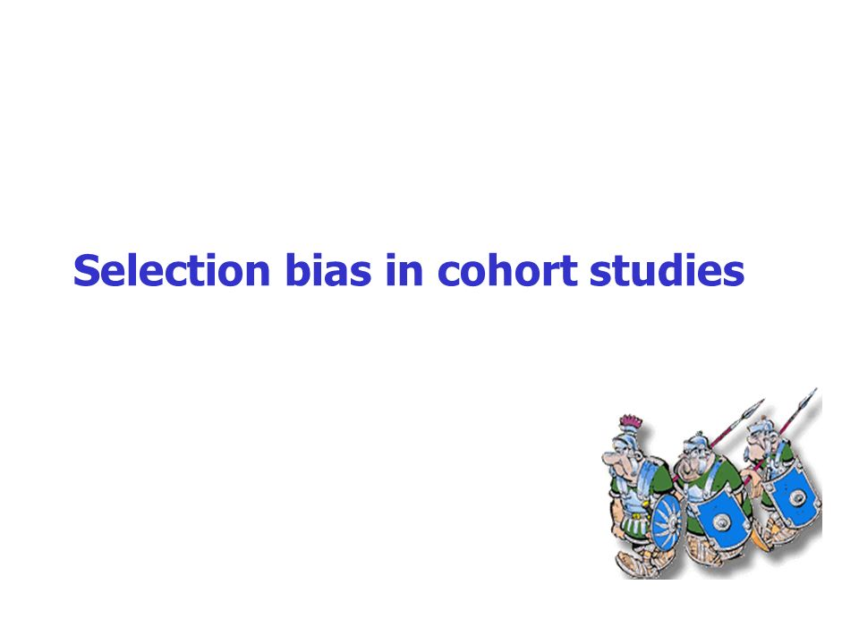 Selection bias in cohort studies