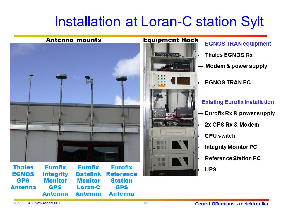 Installation At Loran C Station Sylt