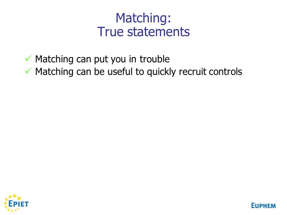 Matching: True statements