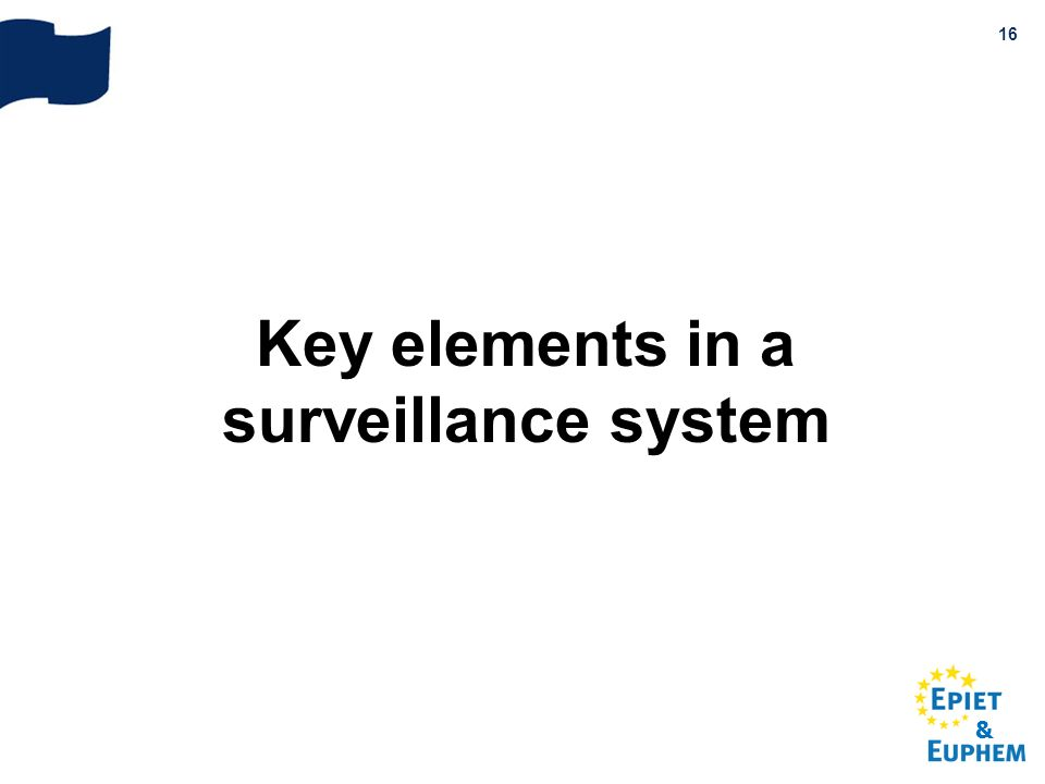 Key elements in a surveillance system