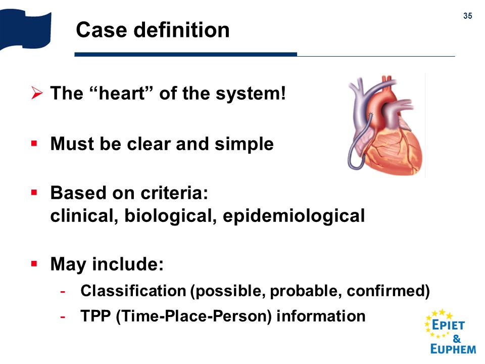 Case definition The heart of the system! Must be clear and simple