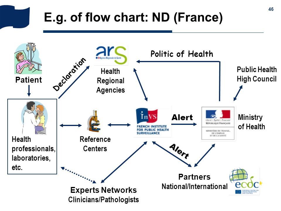 E.g. of flow chart: ND (France)