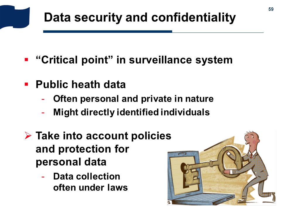 Data security and confidentiality