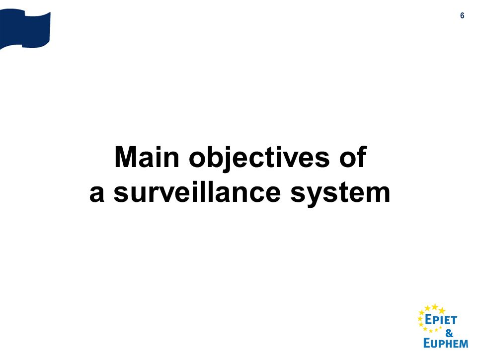Main objectives of a surveillance system