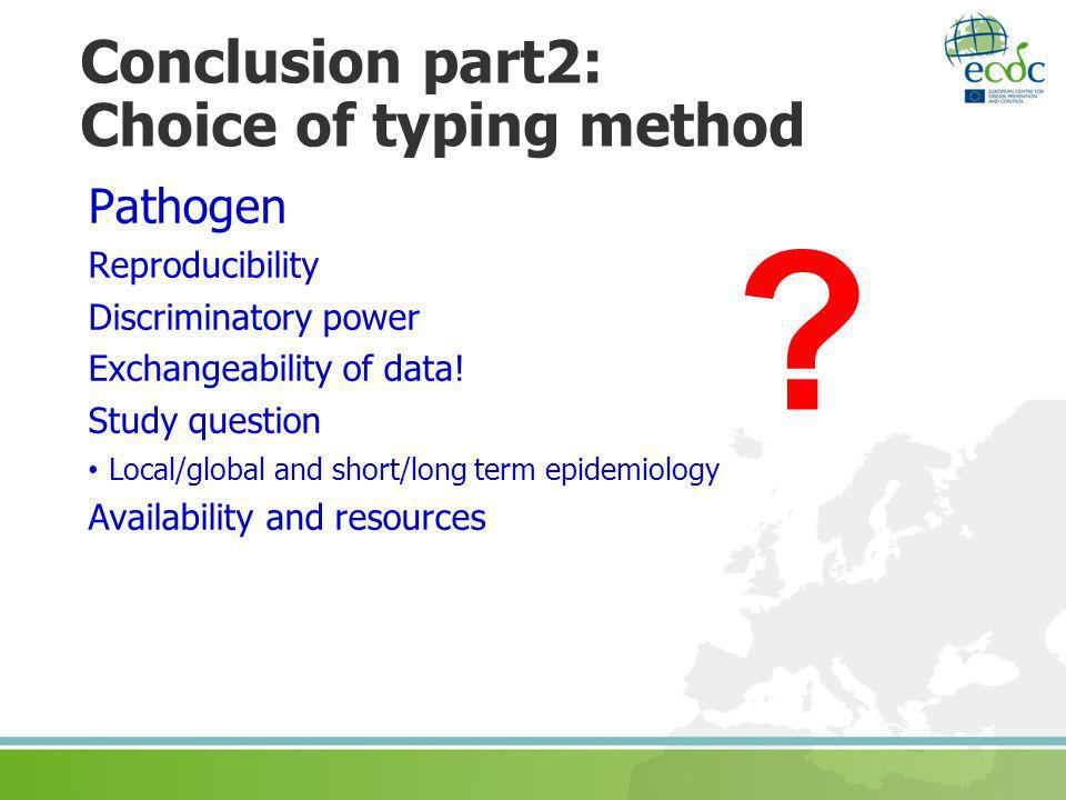 Conclusion part2: Choice of typing method