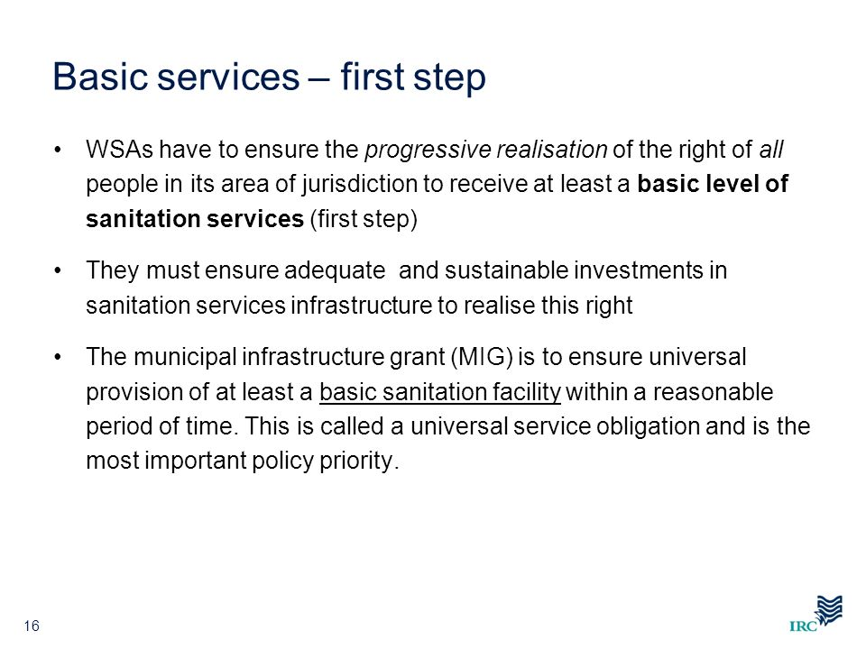 Basic services – first step