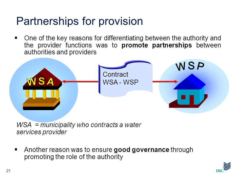 Partnerships for provision