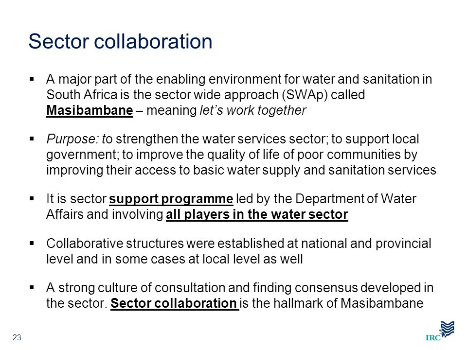 Sector collaboration