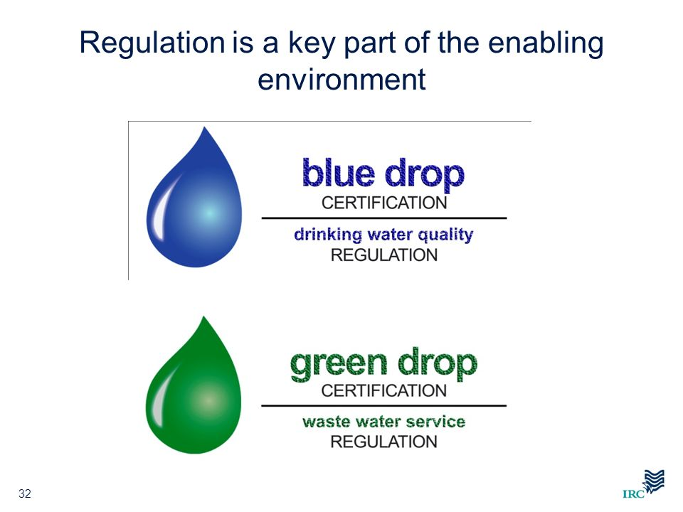 Regulation is a key part of the enabling environment