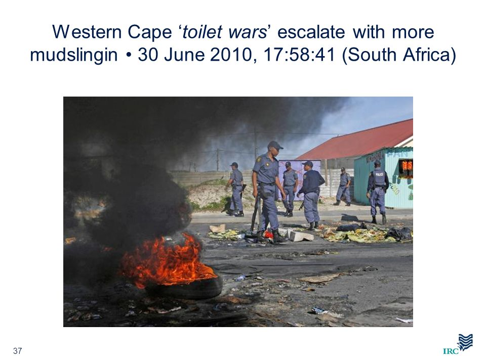 Western Cape 'toilet wars' escalate with more mudslingin • 30 June 2010, 17:58:41 (South Africa)