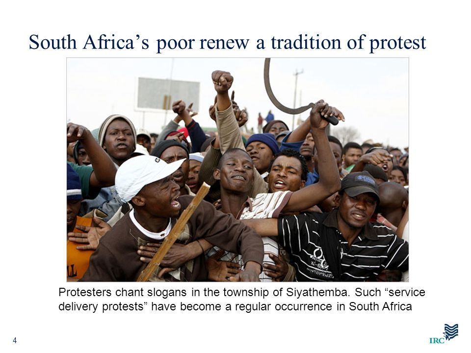 South Africa's poor renew a tradition of protest