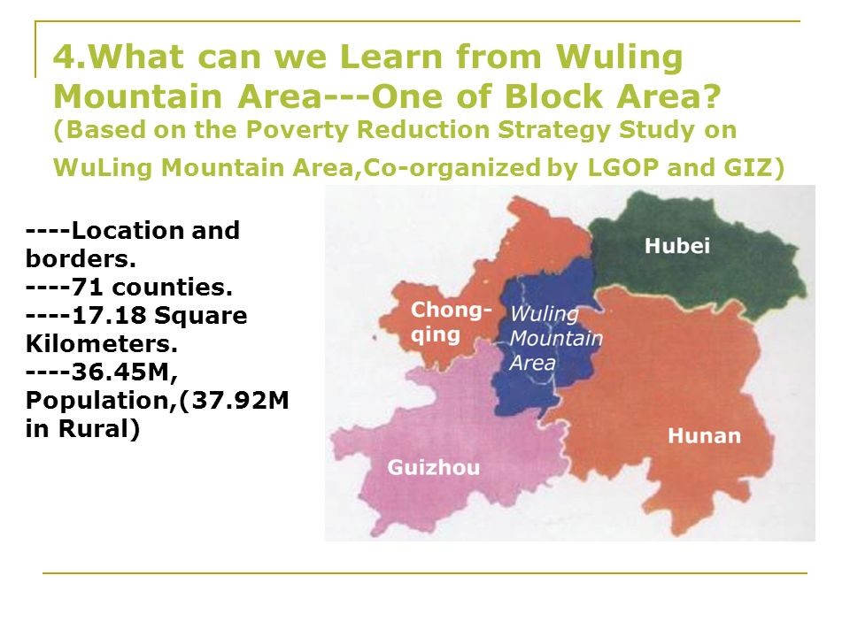 4. What can we Learn from Wuling Mountain Area---One of Block Area