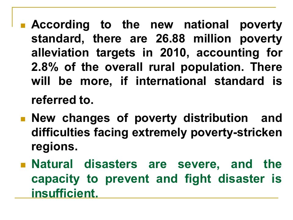 According to the new national poverty standard, there are 26