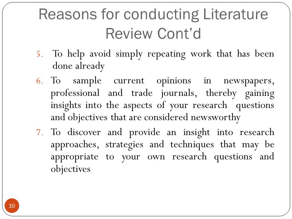 Literature review for sale