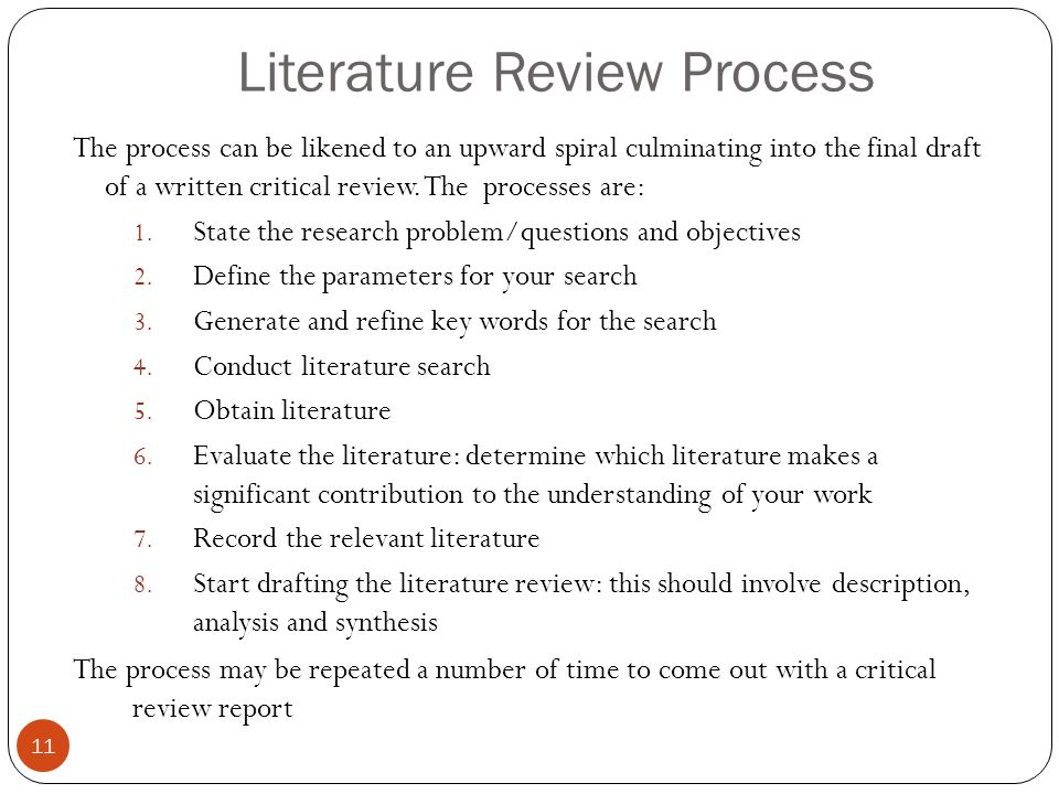 Thesis only phd literature review
