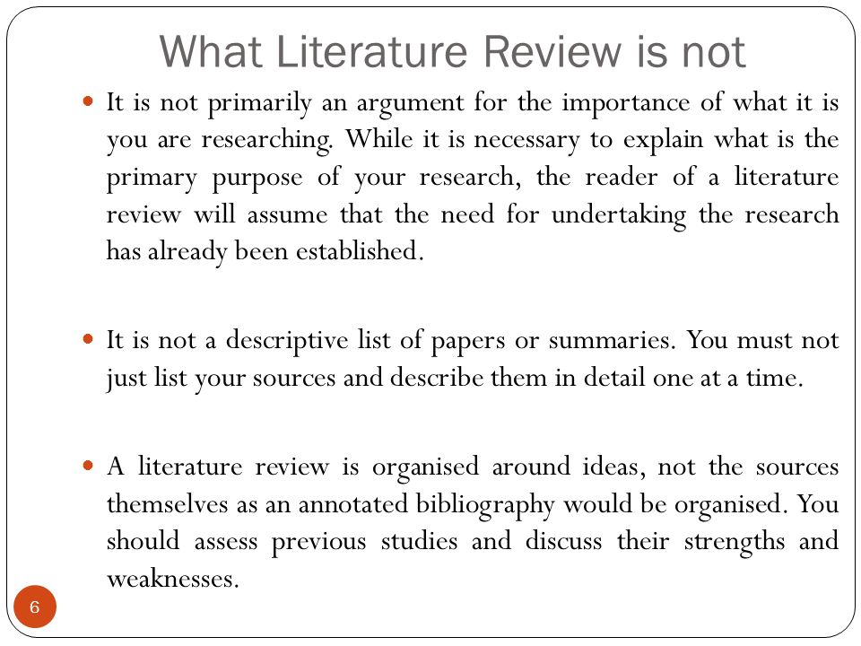 What Is The Purpose Of A Literature Review?