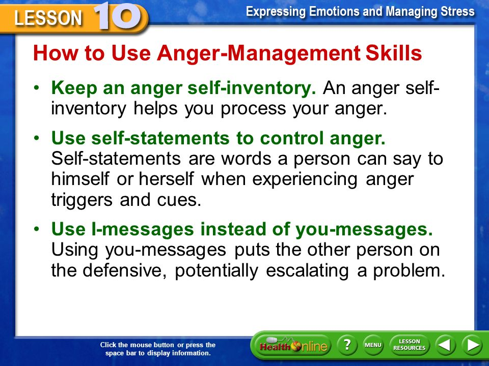 managing anger using i language Purpose of the 8 hour anger management coursethe eight-hour adult anger  language location  and assertive communication skills in managing anger using the des.