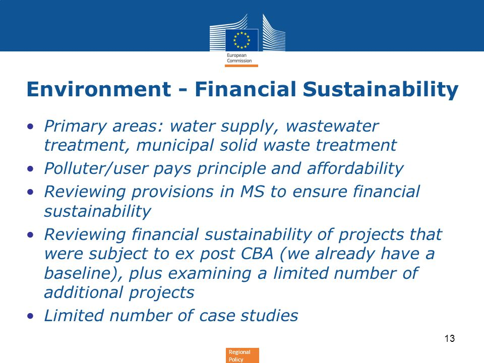 Environment - Financial Sustainability