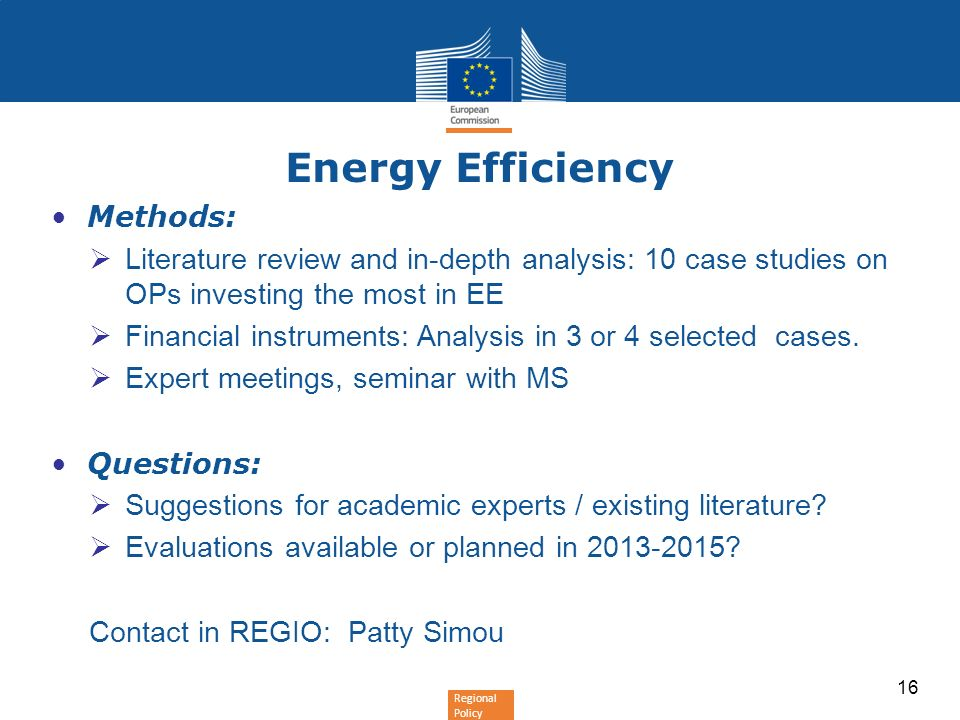 Energy Efficiency Methods: