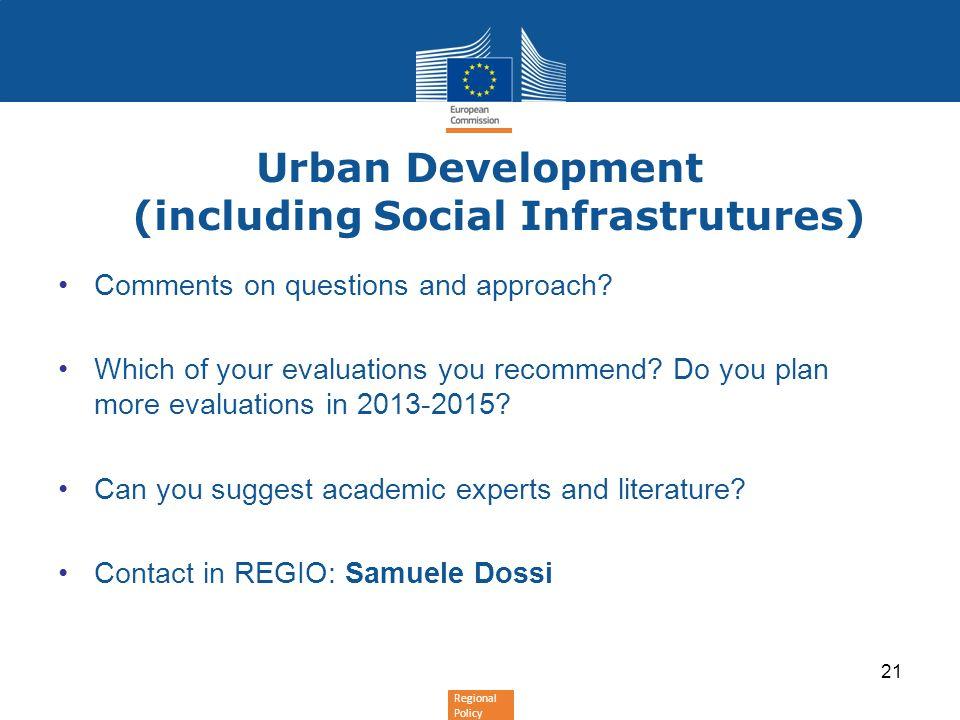 Urban Development (including Social Infrastrutures)