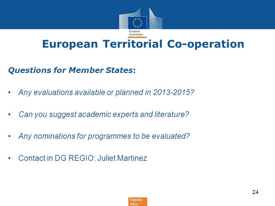 European Territorial Co-operation