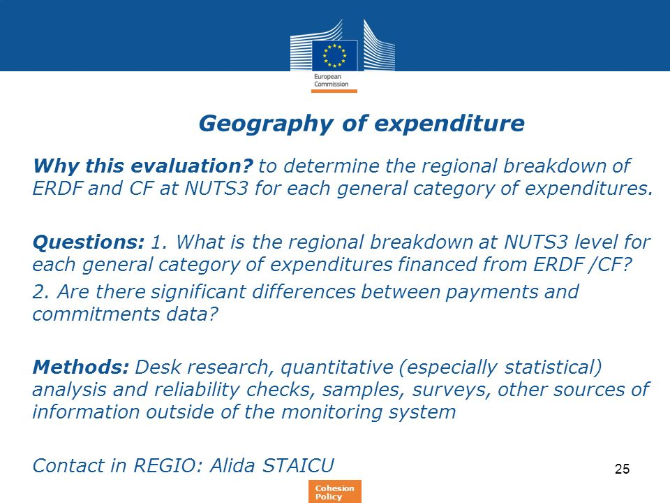 Geography of expenditure