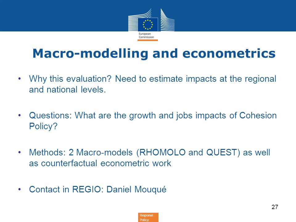 Macro-modelling and econometrics