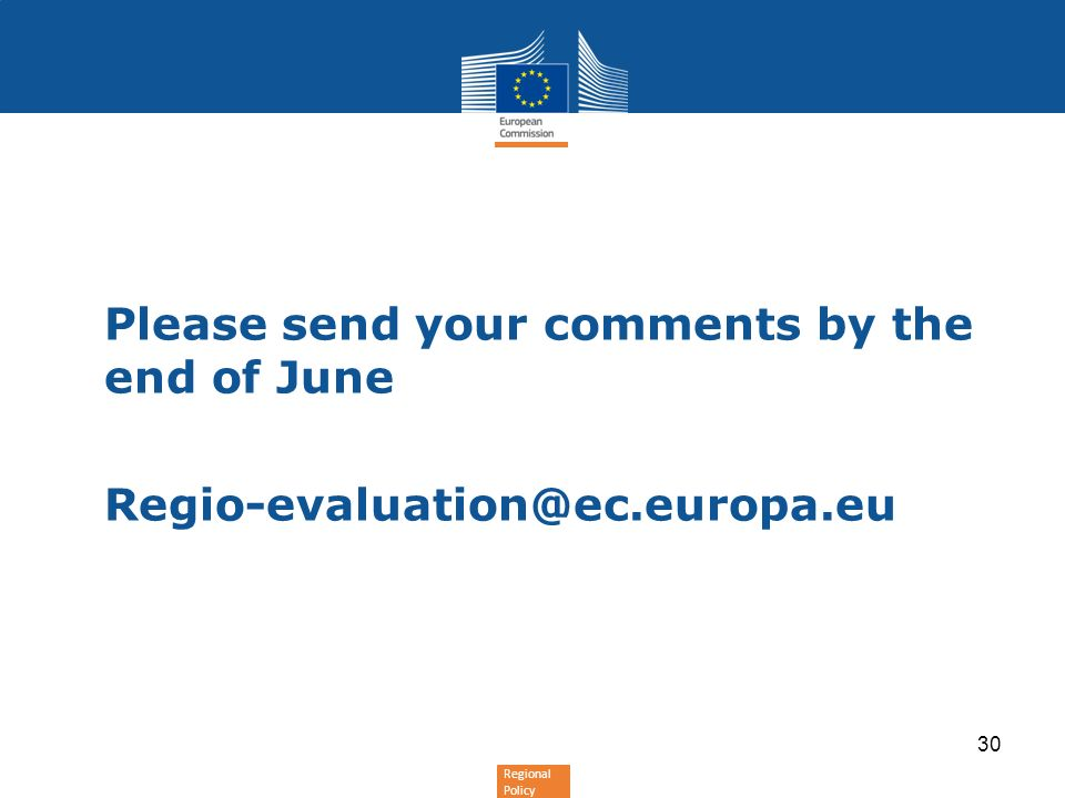 Please send your comments by the end of June