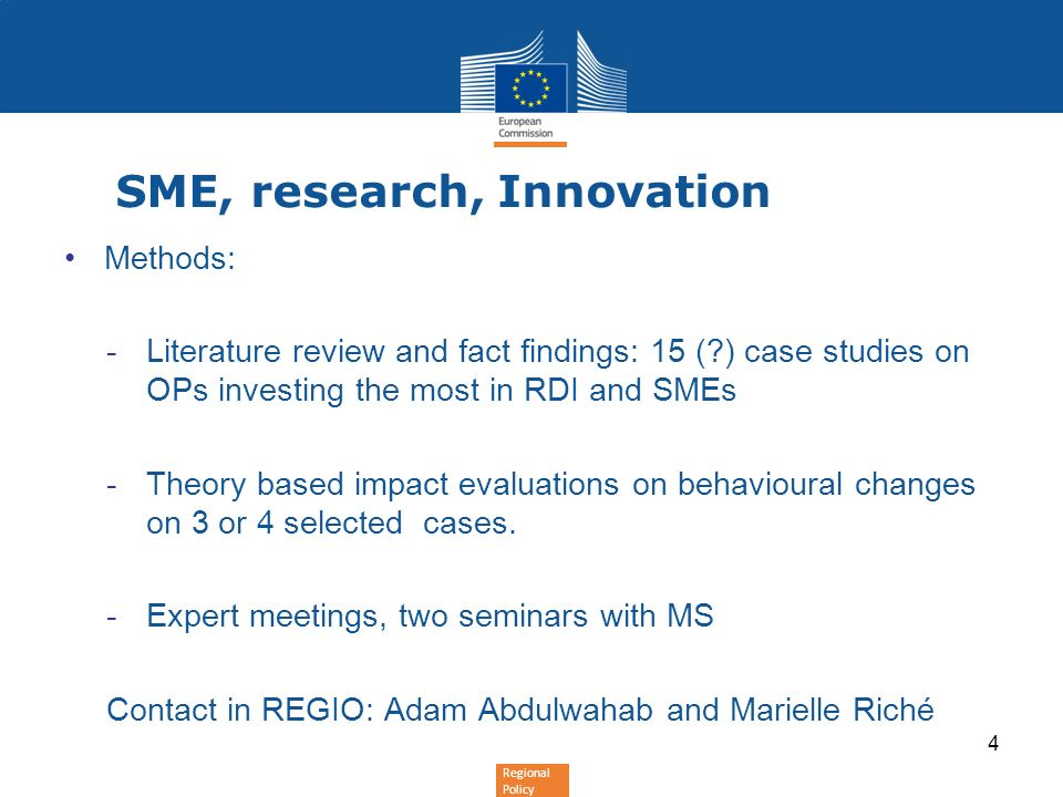 SME, research, Innovation