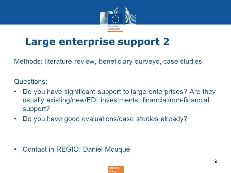 Large enterprise support 2