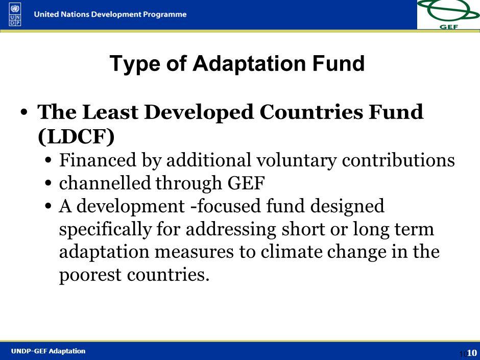 Type of Adaptation Fund
