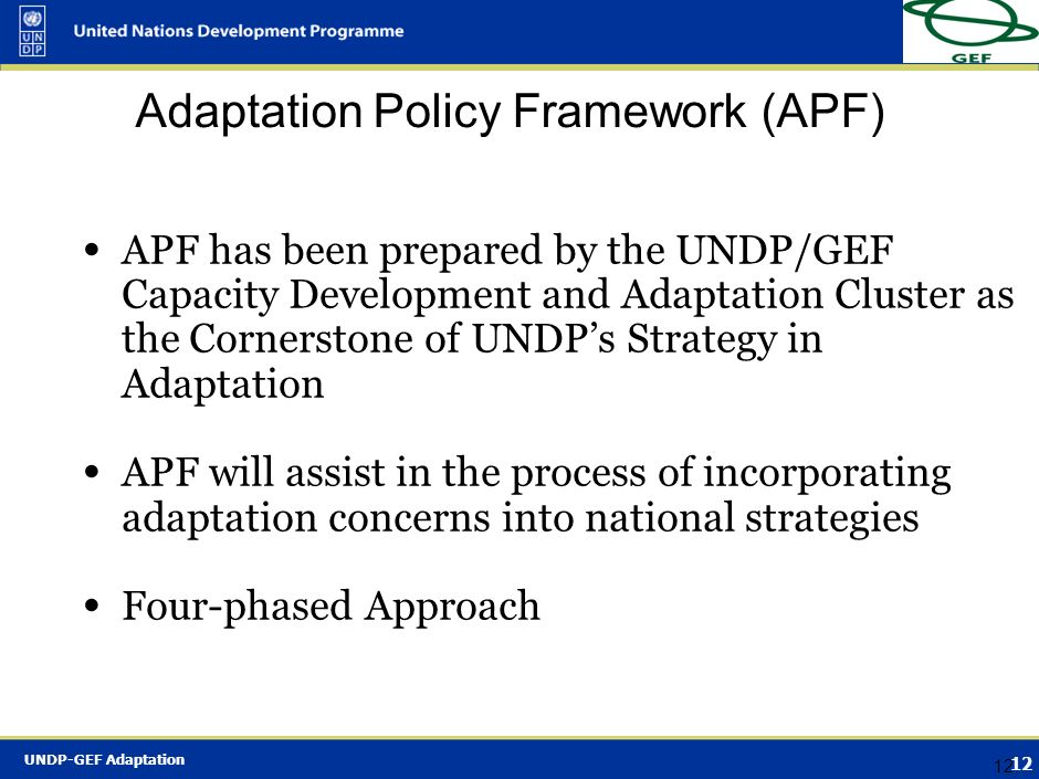Adaptation Policy Framework (APF)
