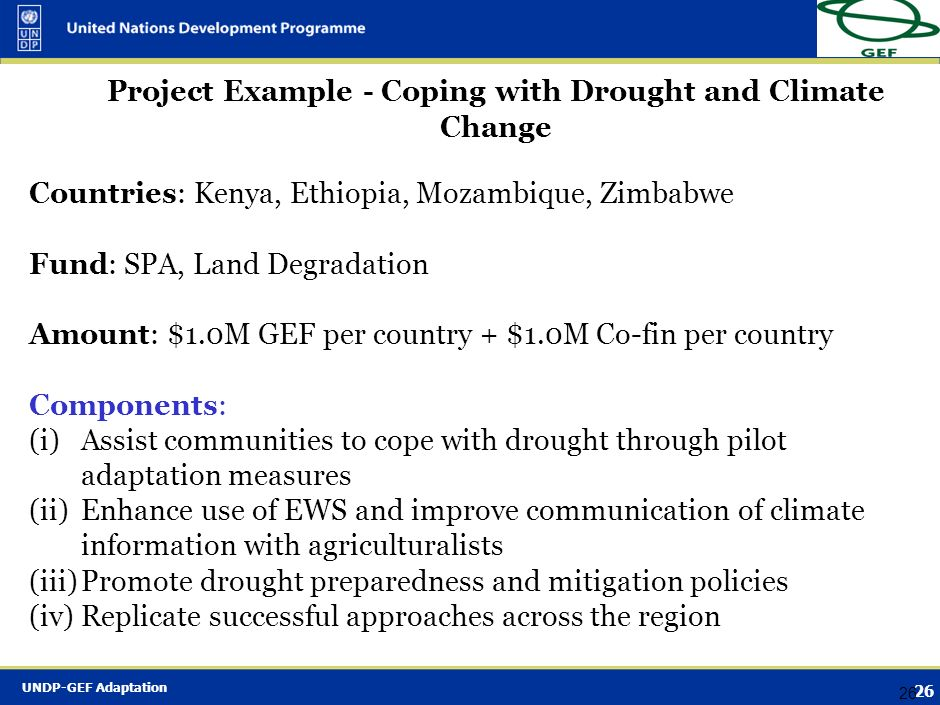 Project Example - Coping with Drought and Climate Change