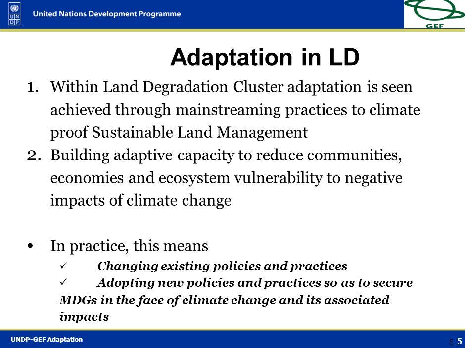 Adaptation in LD
