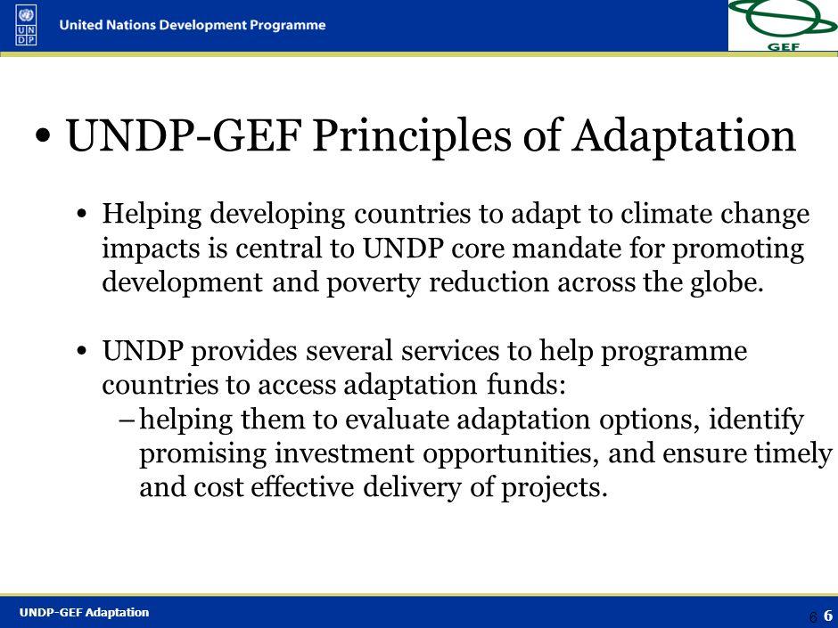 UNDP-GEF Principles of Adaptation
